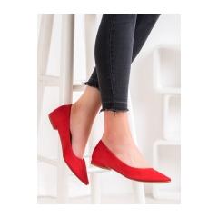 Dámske červené balerínky - 20BL35-2140R