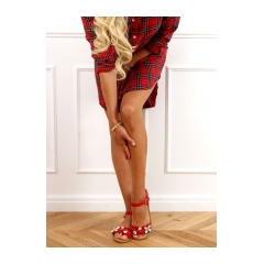 Dámske červené sandále - M78