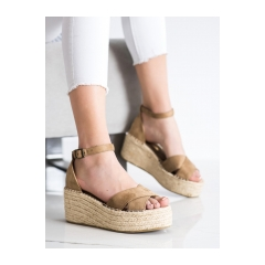 Dámske hnedé sandále - C7246AR