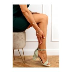 Dámske zelené sandále - LL-210P