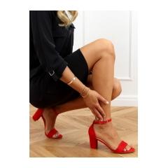 Dámske červené sandále - LL-210P