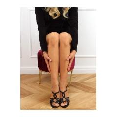 Dámske čierne sandále - A3083