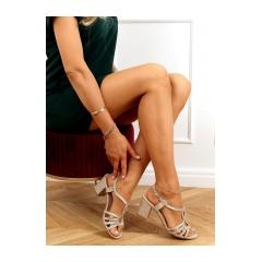 Dámske zlaté sandále - A3083