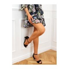 Dámske čierne sandále - B7922