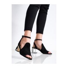 Dámske čierne sandále  - DS2107/21B