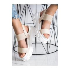 Dámske béžové sandále na platforme FASHION  - NS192BE