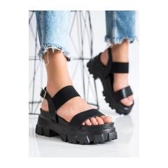 Dámske čierne sandále na platforme FASHION - NS192B
