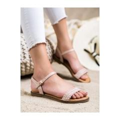 Dámske béžové sandále  - WL061NU