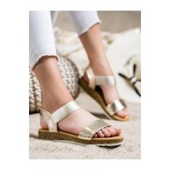 Dámske zlaté sandále  - 38853GO