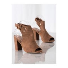 Dámske hnedé sandále  - 100-1001C