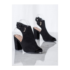 Dámske čierne sandále - 100-1001B
