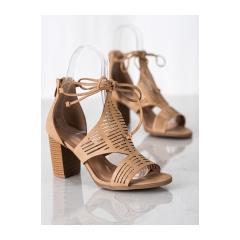 Dámske béžové sandále  - S-918BE