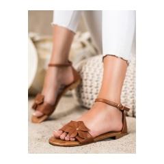 Dámske hnedé ploché sandále  - LT1719C