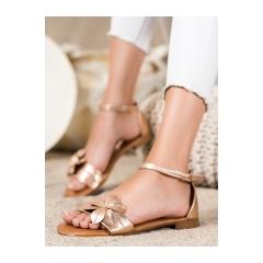 Dámske zlaté ploché sandále - LT1719CHA