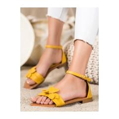 Dámske žlté ploché sandále - LT1719Y