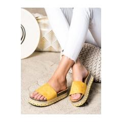 Dámske žlté šľapky - LS015Y