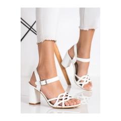 Dámske biele sandále  - S-863W