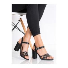 Dámske čierne sandále  - S-863B