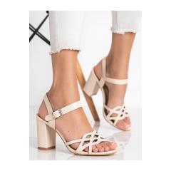 Dámske béžové sandále  - S-863BE