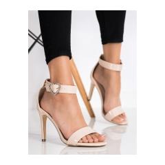 Dámske béžové sandále  - D85-24NU