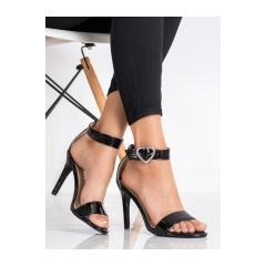 Dámske čierne sandále - D85-24B