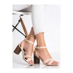 Dámske béžové sandále  - 333-12BE