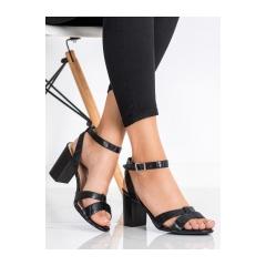 Dámske čierne sandále - 333-12B