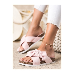 Dámske ružové šľapky - 7853P