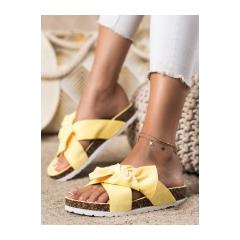 Dámske žlté šľapky - 7853Y