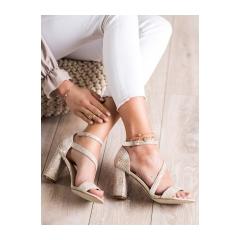 Dámske béžové sandále SNAKE PRINT - SK870BE