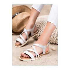 Dámske biele sandále - 20SD14-2064W