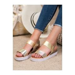 Dámske zlaté sandále  - SBX-31GO