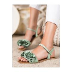 Dámske zelené sandále - PA-370GR