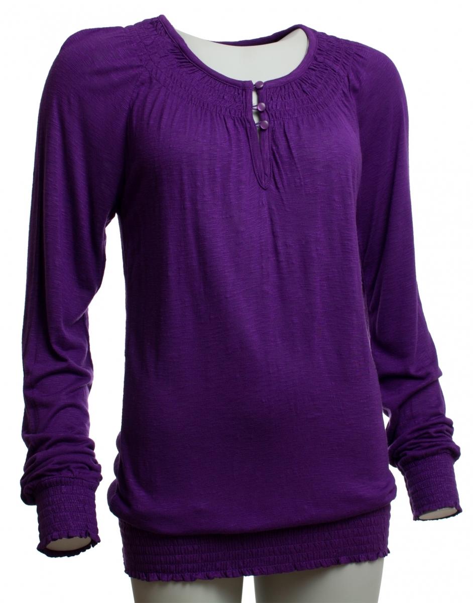 a60465b884dd Krásne fialové tričko s dlhým rukávom