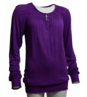 Krásne fialové tričko s dlhým rukávom