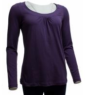 Báječné fialové tričko s dlhým rukávom