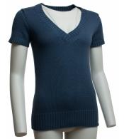 Módny modrý pulóver