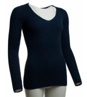 Krásny modrý pulóver